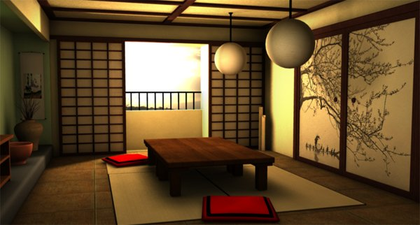 living room in japonia